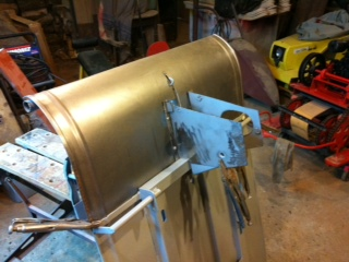 front tin clamped in place.JPG